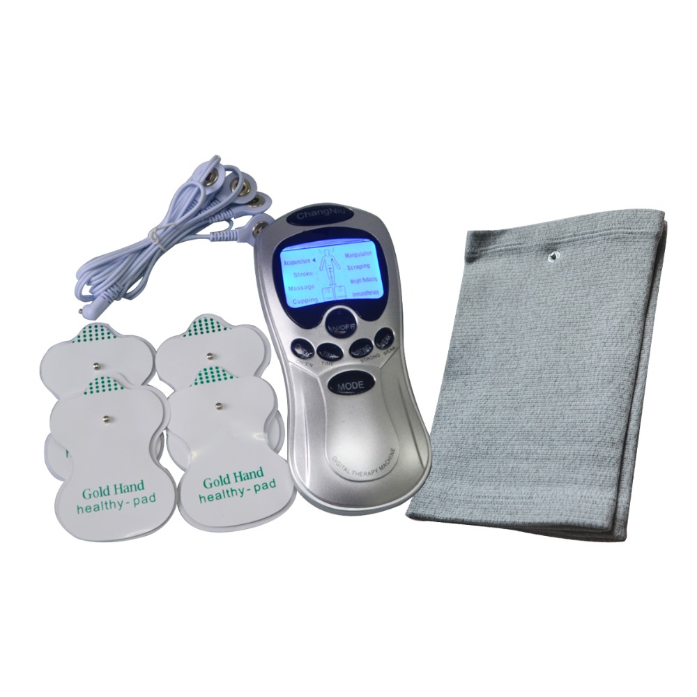 Electronic Body Massage And Relaxation Machine Tens Acupuncture Neck Knee Massager Health Care With One Pair Conductive Kneepad