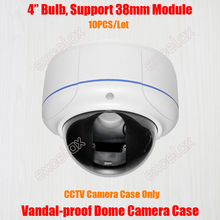 10 ชิ้น/ล็อต Vandal   proof Varifocal โดมกล้อง IP กล้องวงจรปิดความปลอดภัยเพดานโลหะที่อยู่อาศัยปลอก
