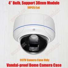 10 יח\חבילה ונדאל הוכחה Varifocal כיפת מצלמה מקרה IP אבטחת CCTV תקרת הר מתכת ונדאל עמיד דיור מארז