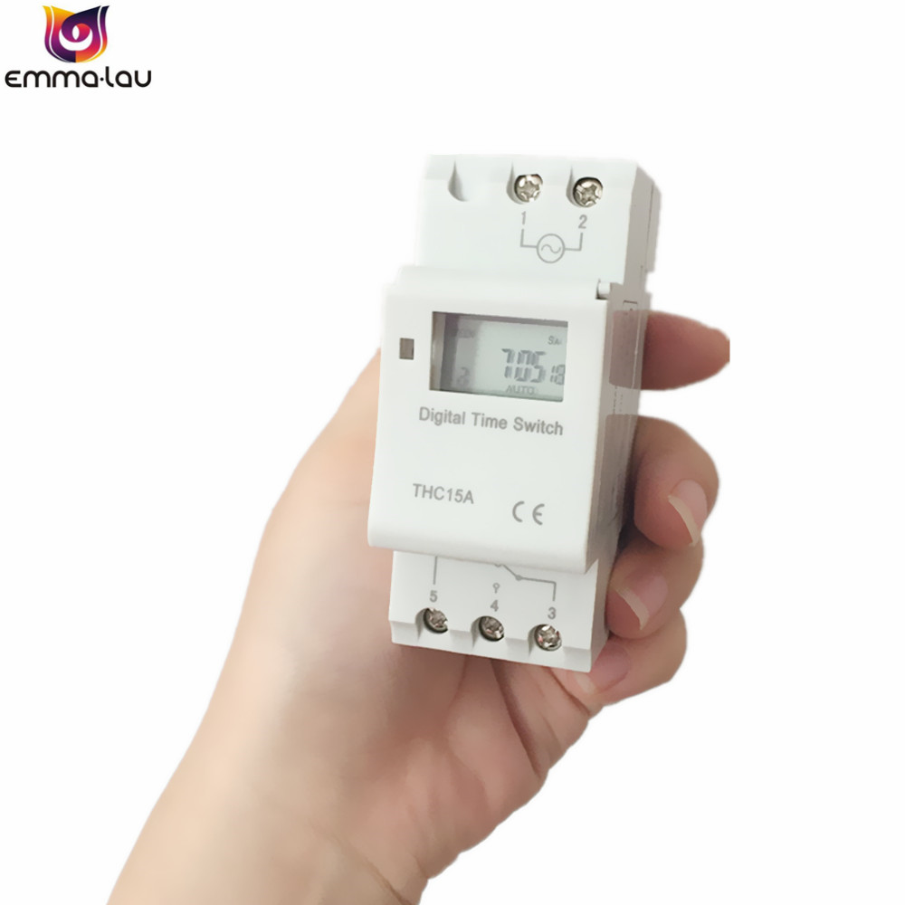24V //12V Digital LCD Programmable Time Switch  Time Control Relay Rail Timer