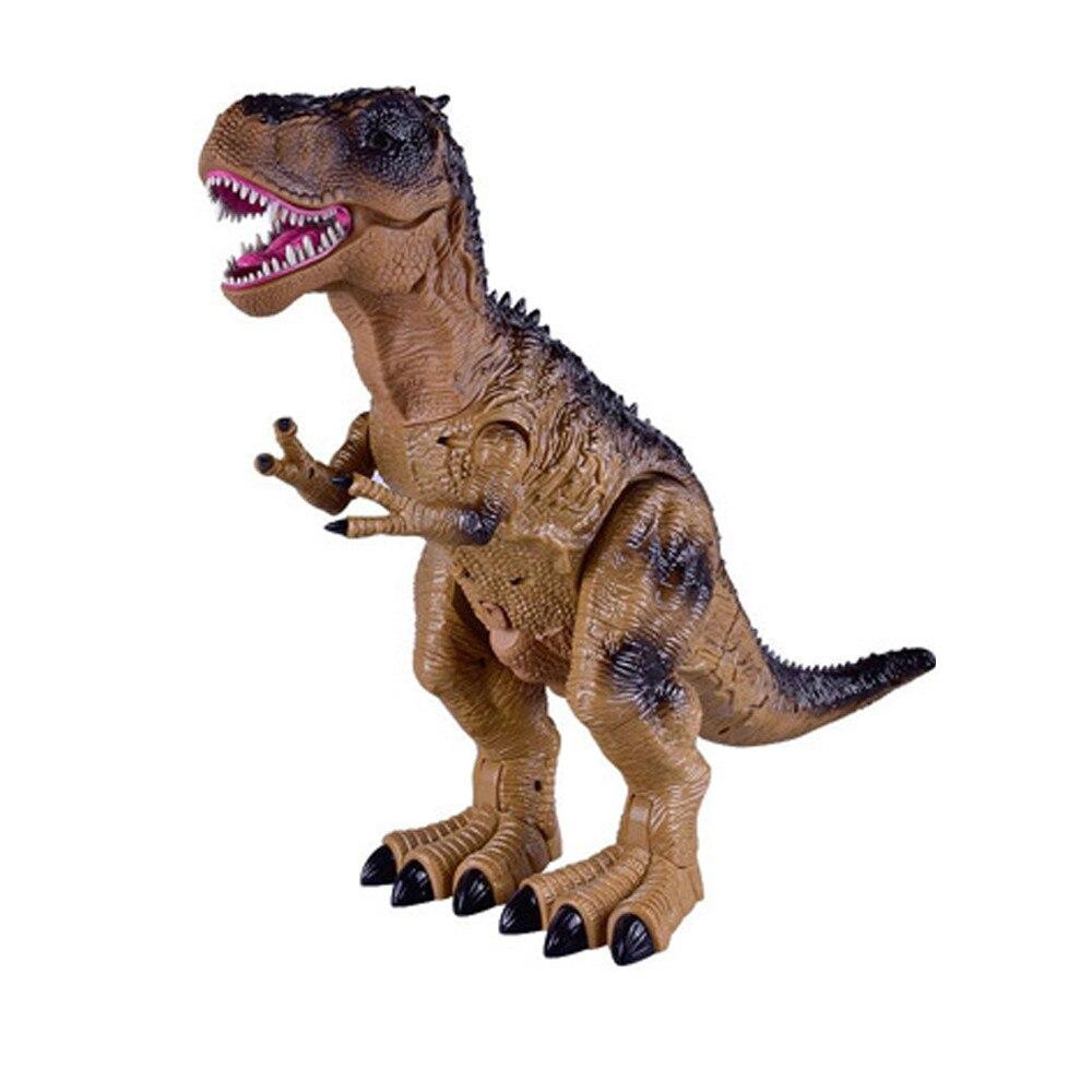 Funning télécommande mécanique clignotant marche réaliste dinosaure jouet feu respiration eau Spray cadeau de noël 50 CM