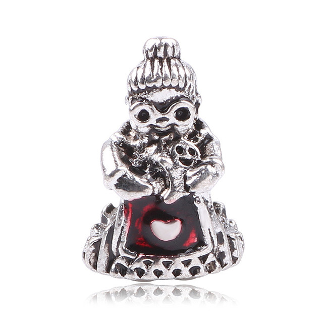 Dodocharms New Design Soild Silver Color Cute Grandmother Charm Beads Fit Original Pandora Bracelet Authentic Diy