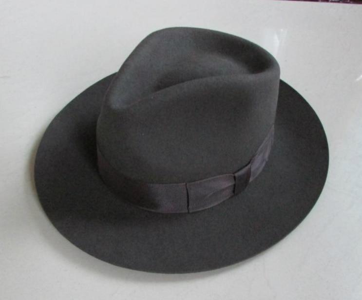 Wool Fedora Hat Unisex Felt Fedoras Hats Adult Fashion Trilby Hats Popular Headwear Wool Fedora Trilby Hats Man's Cap  B-8130 3