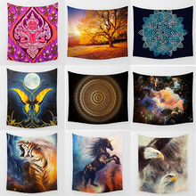 Hot sale fashion fine  horse preety butterfly pattern wall hanging tapestry home decoration wall tapestry tapiz pared fire and water butterfly pattern wall art tapestry