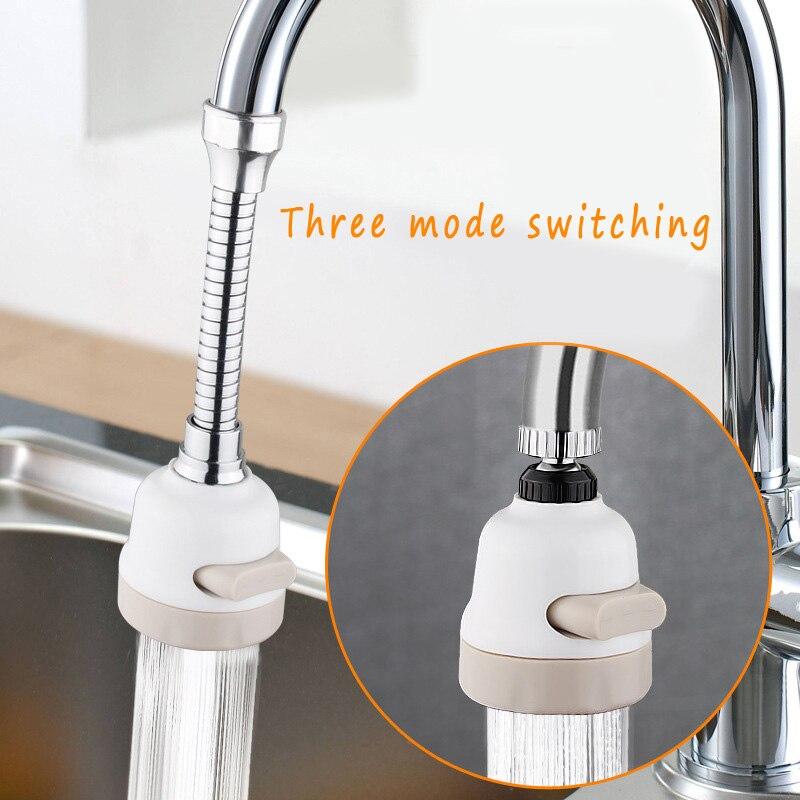 3 Level Adjustable Faucet Shower Rotatable Faucet Extender Water Saver Filter Sprinkler Home Kitchen Bathroom Garden