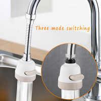 3-Level Adjustable Faucet Shower, Rotatable Faucet Extender, Water Saver Filter Sprinkler Home Kitchen Bathroom Garden Hardware