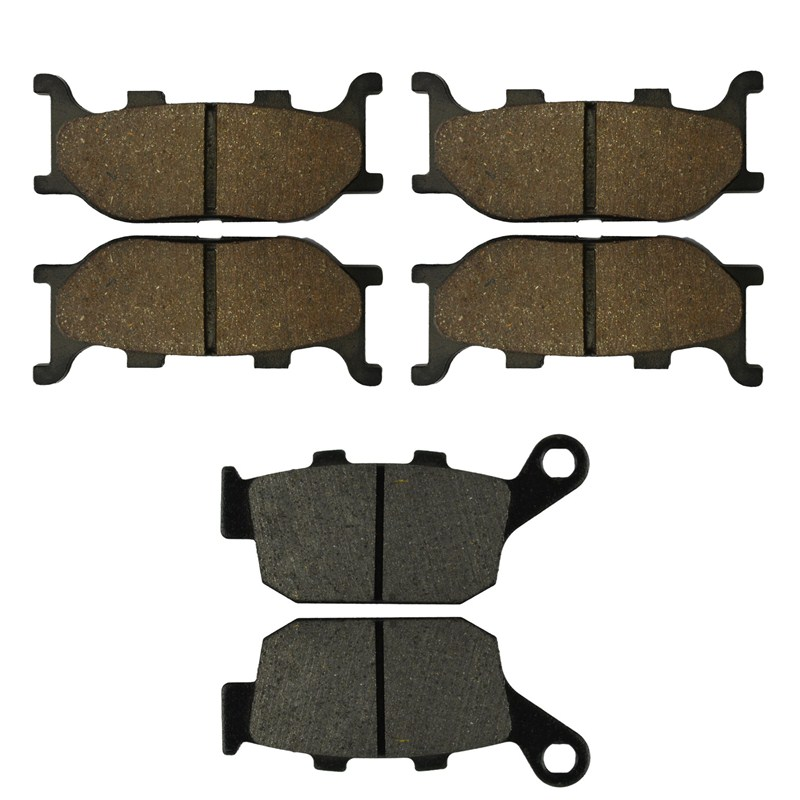 Motorcycle Front and Rear Brake Pads for YAMAHA XJ6-S Diversion 600 2009-2013 Black Brake Disc Pad motorcycle front and rear brake pads for yamaha xvs 1300 xvs1300 aw ax v star 2007 2009 black brake disc pad
