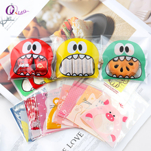 7*7cm 100ps/set More colors dots Self-adhesive Gift Food Packing bag Cute Small Biscuit Cellophane Bag Plastic