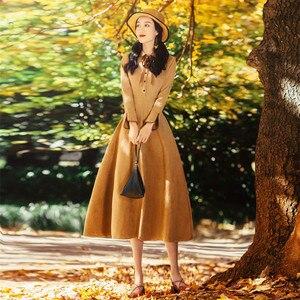 Image 5 - Alta qualidade explosões lazer combinando vestidos feminino xadrez primavera verão vestido casual
