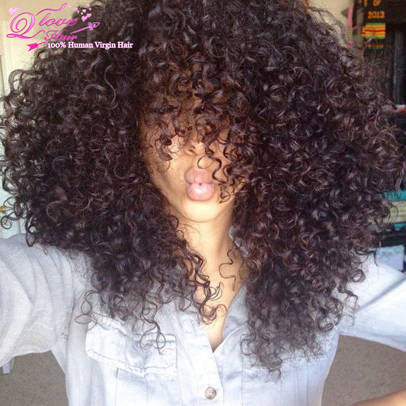 Kinky Curly Hair Short Curly Weave 1pcs Long Curly Human Hair Weaves 8a  Grade Virgin Unprocessed Human Hair Cheap Hair Bundles 0afa4a2fabc2