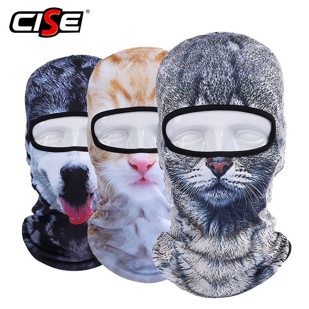 Balaclava Motorcycle Full Face Mask 3D Animal Cat Dog Hats Helmet Windproof Breathable Airsoft Paintball Snowboard Cycling Ski balaclava moto face mask motorcycle face shield tactical airsoft paintball cycling bike ski army helmet full face mask