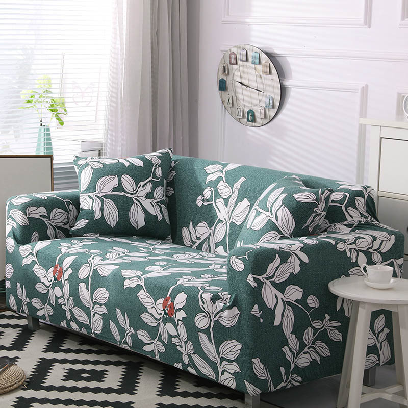 Polyester Couch Cover in Leaf and Flower Pattern for Single to 4 Seated Sofa in Living Room 4