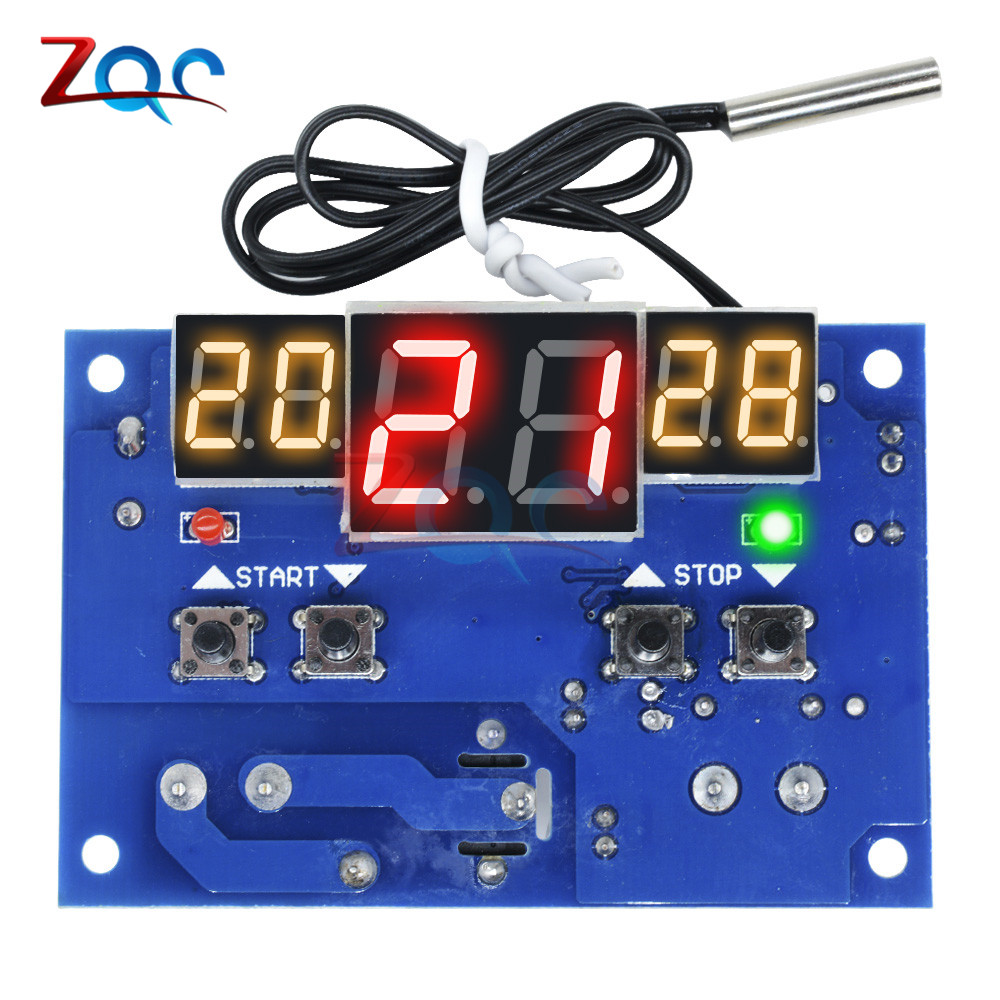 50-110 ° C Termostato de temperatura Control interruptor Termómetro Temperatura Dc12v Calor Fresco