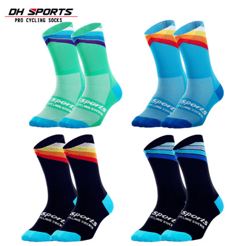 DH SPORTS Pro best sports socks windproof Coolmax Warm weather tall cycling socks Crazy basketball running athletic defeet socks Pakistan
