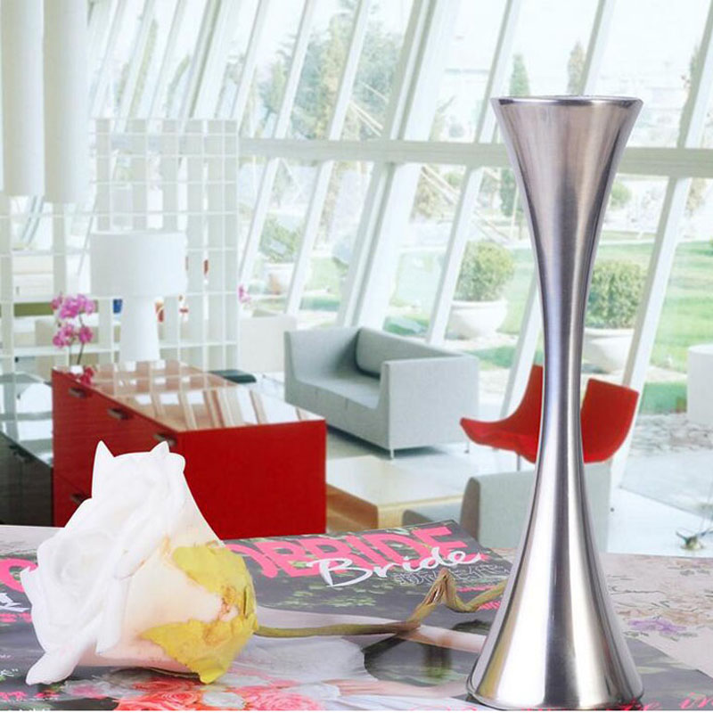 European Single Round Port Flower Vases Fashion Stainless Steel Vase Home Decor Ornaments Accessories for Living Room ZA3139