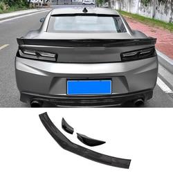 QHCP Kofferbak Spoiler Carbon Fiber Wing Achter Spoilers Lip Decoratie Accessoires Voor Chevrolet Camaro 2016 2017 2018 Auto-styling