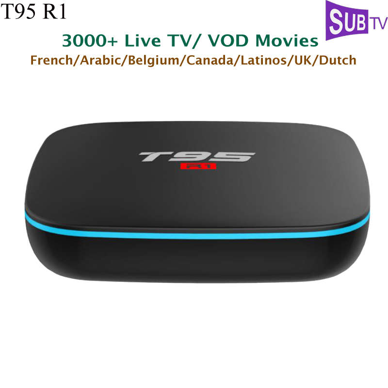 T95r1 Android 7 1 Tv Box S905w 1 Year French Subtv