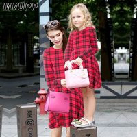MVUPP Mother Daughter Dresses 2 Colour Christmas Plaid Dress 1T 14T Kids And Mom Mum Mater