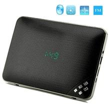Hands free Build-in Microphone wireless Bluetooth Speaker pithy FM radio Alarm Clock Portable speaker bluetooth Stereo speaker