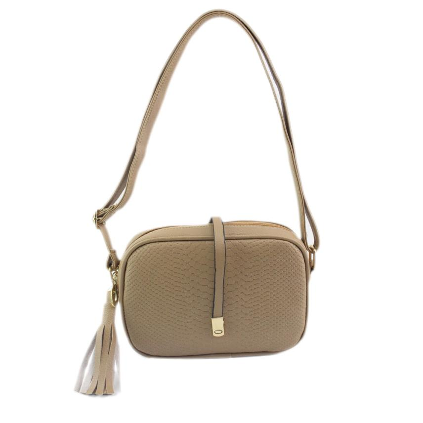 Handbag Women Crocodile Pattern Shoulder Bag Women Strap Hasp Solid Tassel Purses And Handbags Bolsas De Ombro #1116