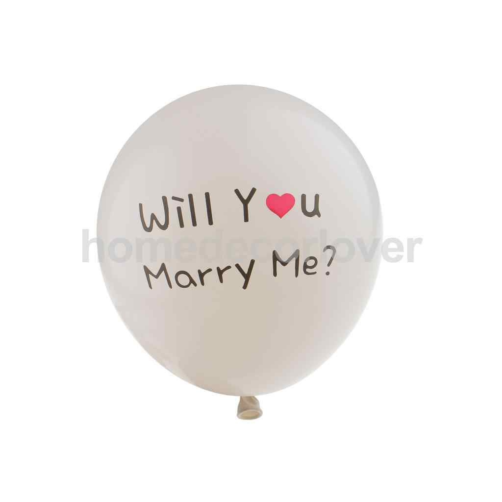 10pcs Will You Marry Me Ballon Red Heart Propose Wedding Marriage Decoration 12""