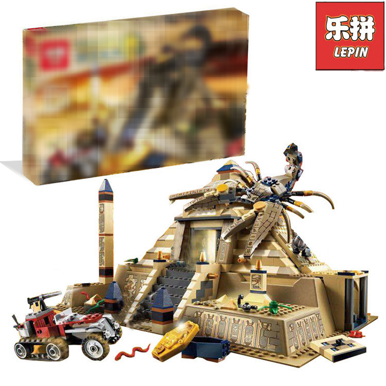 Lepin 31001 822Pcs Egypt Pharaoh Series The Scorpion Pyramid Building Blocks Bricks toys for children chirsmas Gifts 7327 eglo 31001