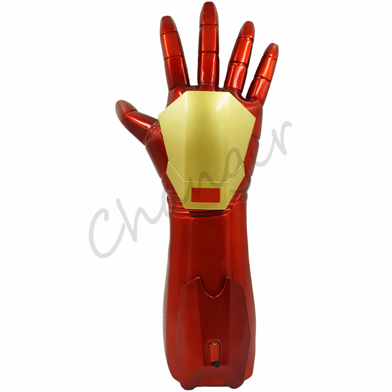 Fer homme droit gant portable lancement Laser lumière Cosplay accessoires pour adulte