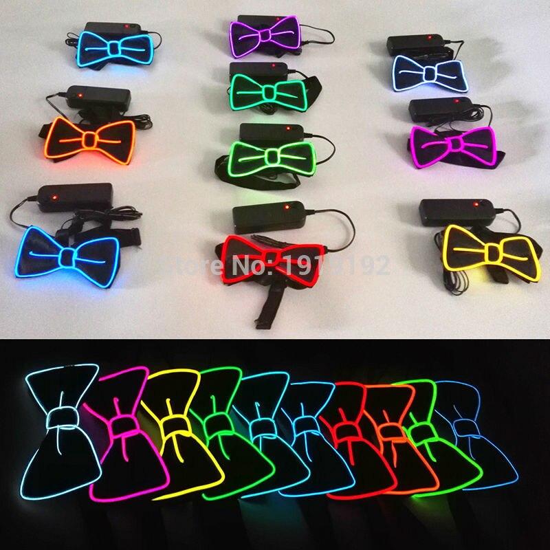 Для ди-джеев, локоть галстук для вечерние, бар, клуб, 2017 устойчивый на драйвера 10 цветов модные Дизайн светящийся мигающий светодиодный галс...