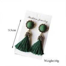 Tiny Tassel Earrings for Women Fashion Jewelry Vintage Velvet Ball Statement Fringed Drop Earring Female Jewellery 2018 New