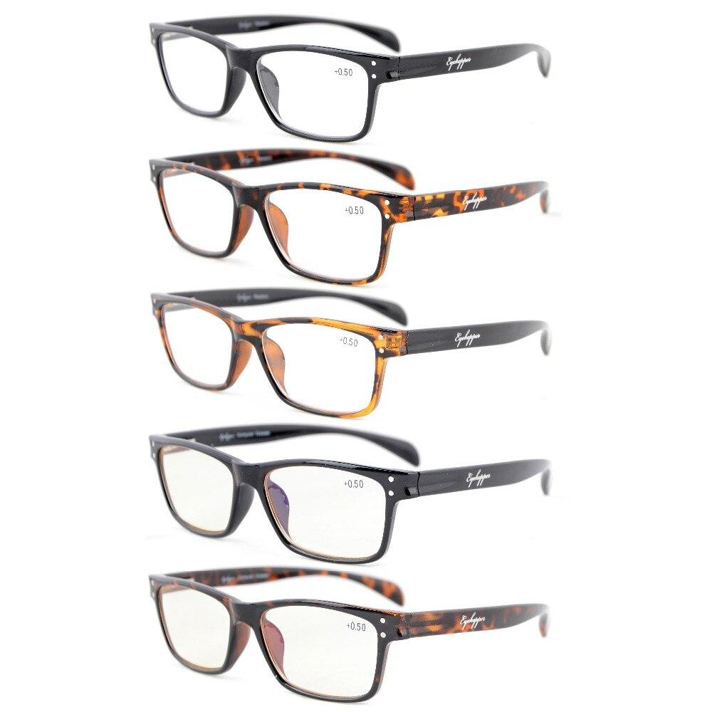 R090 Mix Eyekepper 5-Pack Qualidade Primavera-Dobradiças Esporte Estilo  Óculos de Leitura Incluir 2 Homens Óculos De Computador + 0.50 --- + 4.00 394d6d5a26