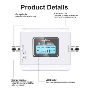 Image 2 - GSM LTE 1800 LCD 70dB Gain 2g 4g Cell Phone Signal Repeater DCS 1800MHz Mobile Amplifier GSM Cellular Signal Booster for Russia