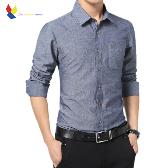 Men Shirt 95% Cotton 3D Slim Style Bussiness Man Extended 5XL 2016 Korean New Fashion Brand Clothing Solid