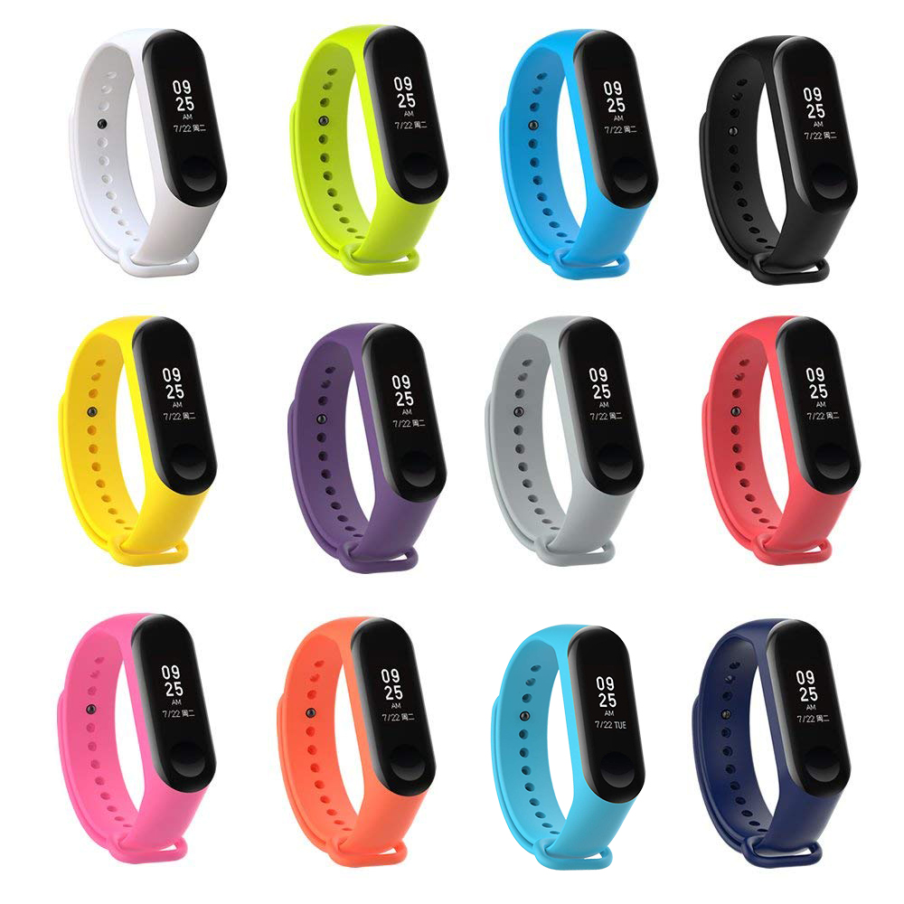 Pack of12 Strap For Xiaomi Mi Band 3,Silicone wrist strap For xiaomi mi band 3 accessories bracelet Miband3 Strap aксессуар ремешок activ for xiaomi mi band 3 silicone принт 02 90350