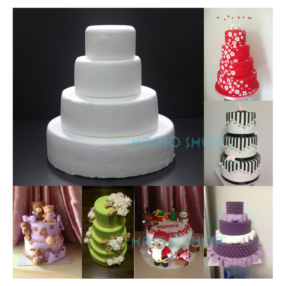 1pcs different sizes handmade round cake foam polystyrene for House decoration products
