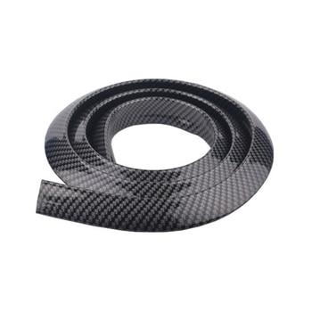 2 PCS 1.5M Carbon Fiber Mud Guard For Car tyre Rubber Scratch Protector Edge Guard Car Refitting Stickers Auto Accessory