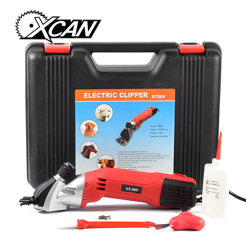 XCAN 500W Electric shearing clipper for Animal trim hair cutter ST009 shearing machine one 13T sheep