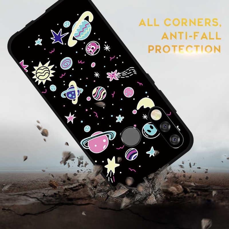 Moda telefon etui na Huawei P30 Mate 20 20X Lite Pro P Smart Plus Y9 Y7 Y6 Pro 2019 Y7 Y6 Y5 prime 2018 miękka okładka serce etui