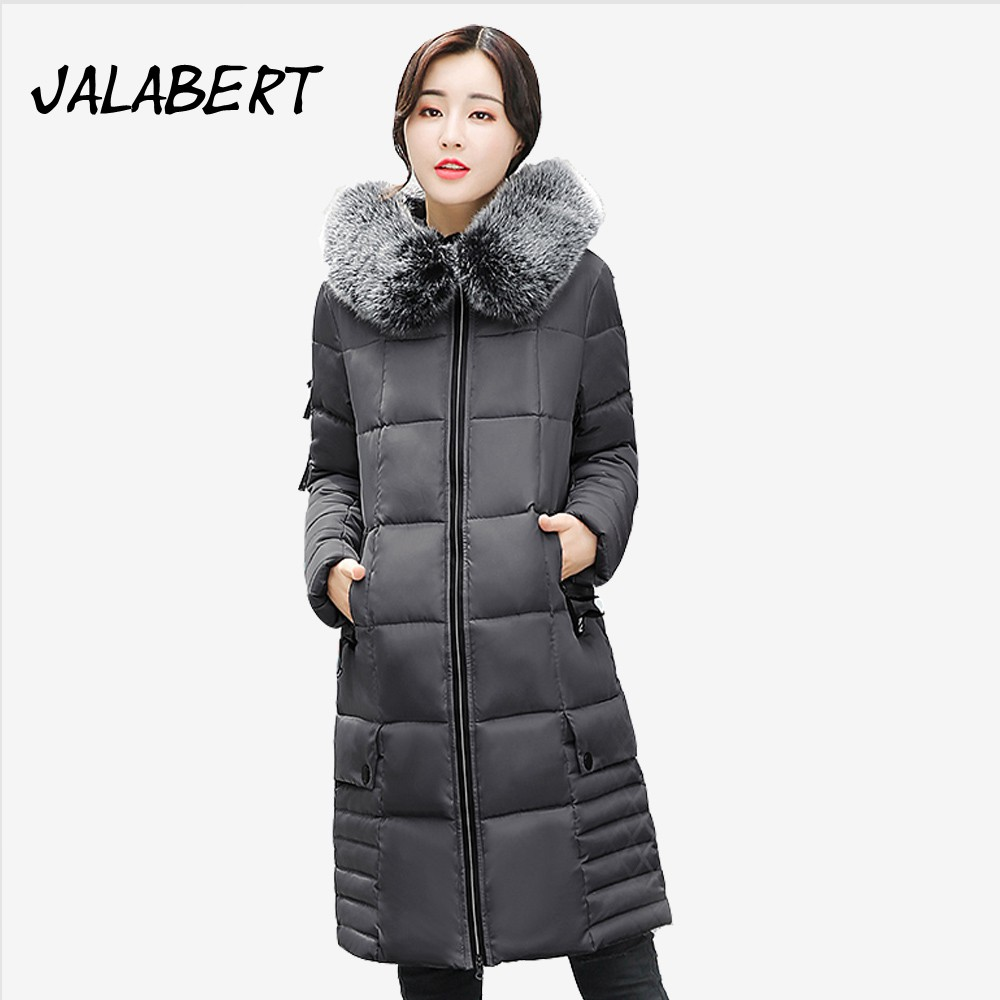 2017 Limited Full Zipper Solid Winter New Cotton Jacket Women Slim Hooded Large Fur Collar Female Fashion Warm Parkas Overdress 2017 new winter women cotton slim coats female short thick fur collar hooded warm solid zipper jacket parkas