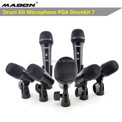 Free shipping, PGA DrumKit7  dynamic wired microphone drumkit microphone , PGA52 x 1 , PGA56 x 4 , PGA57 x 2