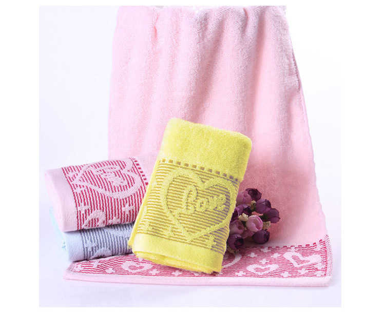 New Heart Pattern 2016 1pc 33*73cm(13''*30'') 100% Cotton Face Hand Towel adult Hand towel toalhas Super breathable Brand towel