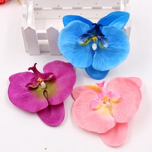 Butterfly Orchid Flower-Heads Artificial-Flower Home-Decoration 2pcs/Lot Large-Fabric