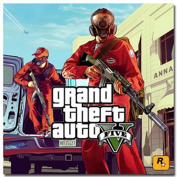 Шелковый Плакат гобелен Grand Theft Auto V