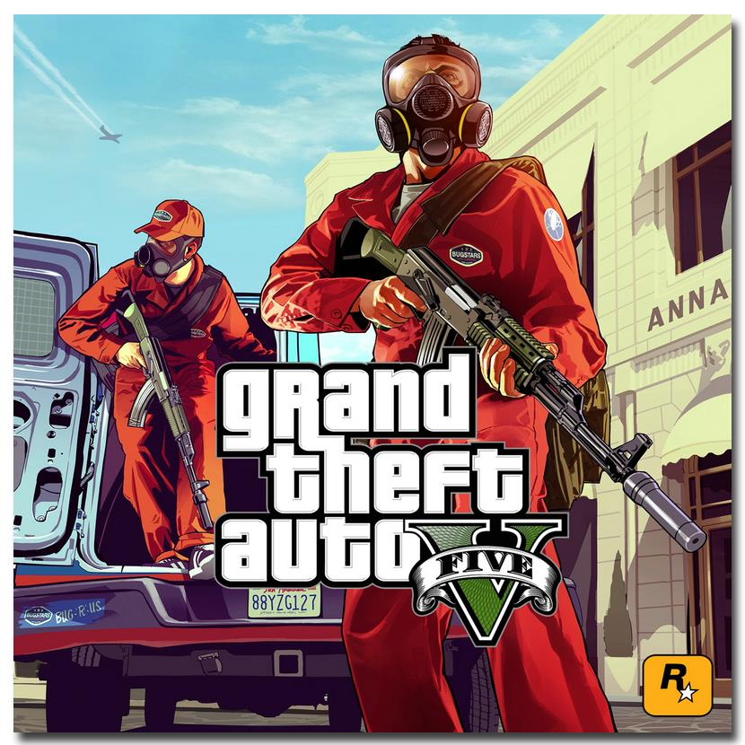 NICOLESHENTING Grand Theft Auto V Video Game GTA 5 Art Silk Poster Print 24x24 32x32 inches Wall Pictures For Living Room 08