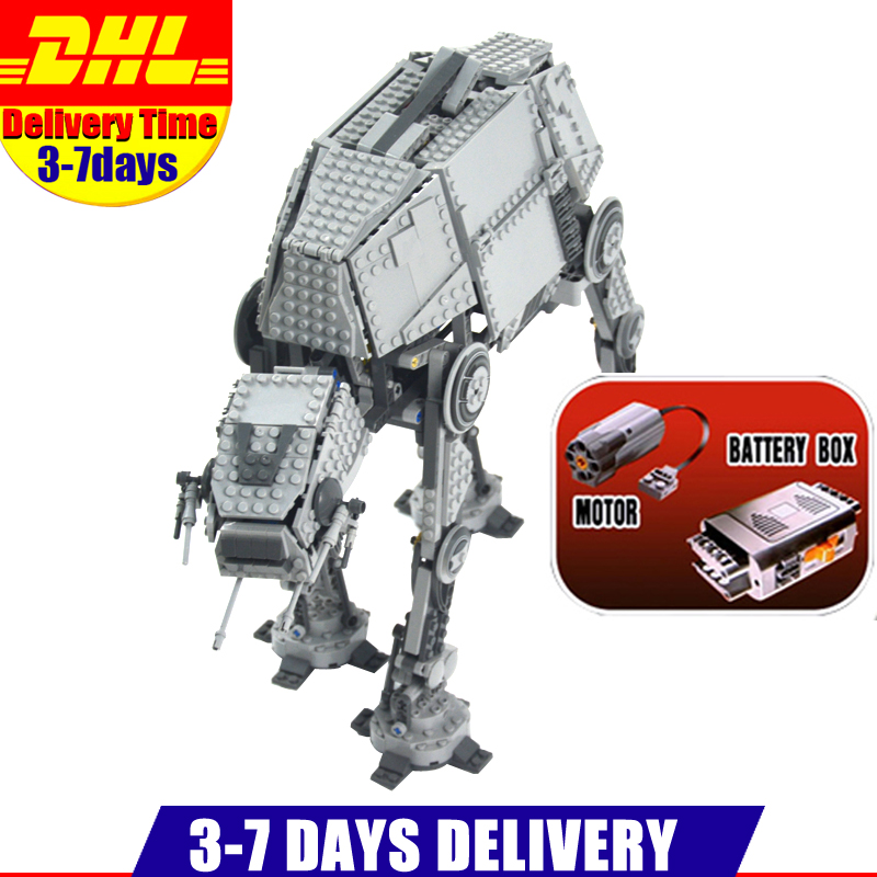 IN Stock DHL 1137PCS LEPIN 05050 Star Series Wars Motorized Walking AT-AT Model Building Kit Set Blocks Bricks Toy Clone 10178 free shipping brass bath pop up drain rotable bathroom tub sink waste drainer bathtub drain