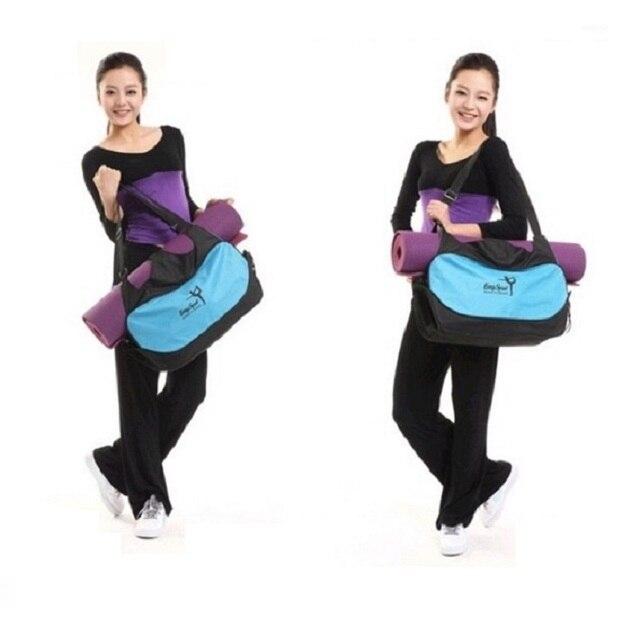Горячая Многофункциональный Yoga bag тренажерный зал рюкзак Водонепроницаемый Yoga mat bag yoga Пилатес Мат Сумка Носителей (Yoga mat не включая)