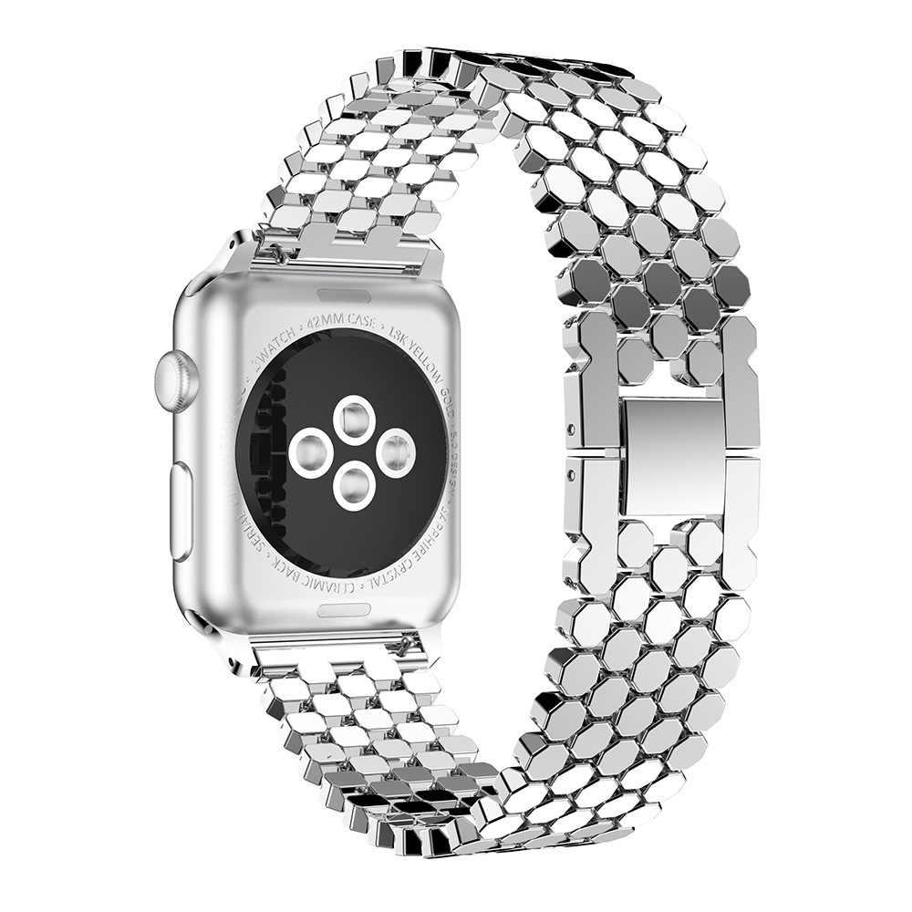 ファッションステンレス鋼のりんご時計バンドメタルフィッシュスケール iPhone 時計バンド 38 ミリメートル 40 ミリメートル 42 ミリメートル 44 ミリメートル iWatch シリーズ 1/2/3/4/5