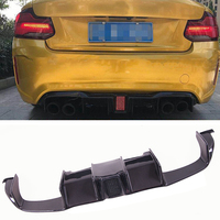 LED Style flashlight Carbon fiber Rear Diffuser Fit For BMW F87 M2