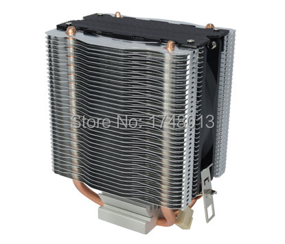 2 heatpipe copper dual tower side-blown CPU cooler fan for Intel LGA 775/1150/1155/1156for AMD FM1/AM2/AM2+/AM3/AM3+ VE929 universal cpu cooling fan radiator dual fan cpu quiet cooler heatsink dual 80mm silent fan 2 heatpipe for intel lga amd