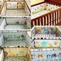 Carros cama de bebê cama de Bebê berço Do Bebê Proteção Bumper 100% algodão bordado 3D animal da flor 4 Peças Mais Estilos para escolher