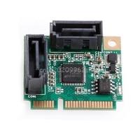 Mini PCIe PCI Express To 2 Ports SATA 3 0 III 6Gb S Expansion Card Single